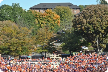 Holmes Hall overlooking the stadium