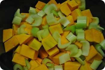 butternut squash, sweet potatoes, celery