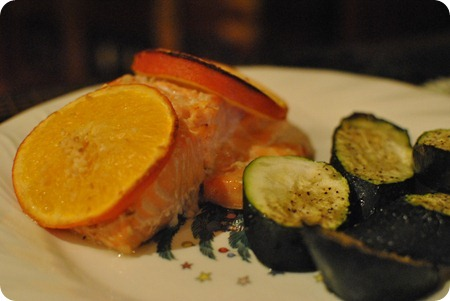 bourbon citrus salmon