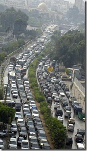 Traffic in Lebanon