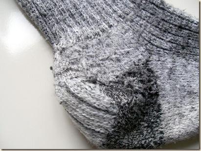 close-up sock