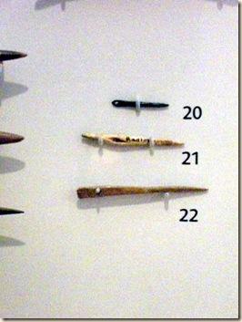 2 Bone needles 800BCE & Roman Bronze needle 43-409CE
