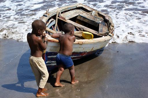 Crianças em Cabo Verde