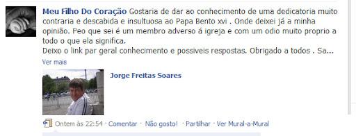 Comentário no facebook