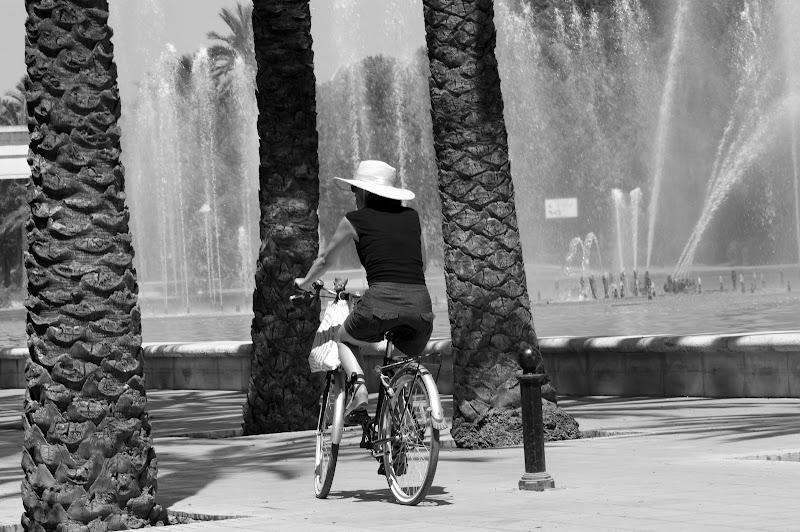 A turista e a bicicleta