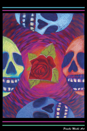 Calaca rose Poster