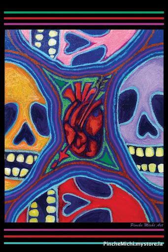 Calaca Heart Poster