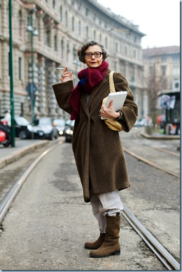 Renata Milan from The Sartorialist