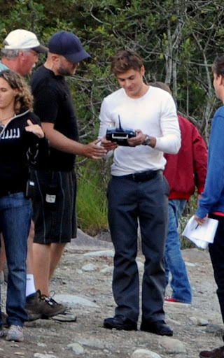 Zac Efron and Charlie Tahan filming in Vancouver, BC. Efrom was seen filming scenes for 'The Death and Life of Charlie St Cloud' with co star Charlie Tahan. The scene involved Zac pretending to fly a miniature plane. Zac was seen snacking inbetween takes on the lake in Vancovuer BC <P> Pictured: Zac Efron <B>Ref: SPL121518  260809  </B><BR/> Picture by: Splash News<BR/> </P><P> <B>Splash News and Pictures</B><BR/> Los Angeles:	310-821-2666<BR/> New York:	212-619-2666<BR/> London:	870-934-2666<BR/> photodesk@splashnews.com<BR/> </P>