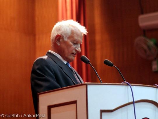 Prof. Dr. Suresh Raj Sharma, VC Kathmandu University at Kathmandu Valley Campus Silver Jubilee and 19th KU Day