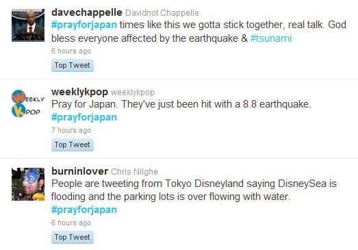 twitter japan earthquake