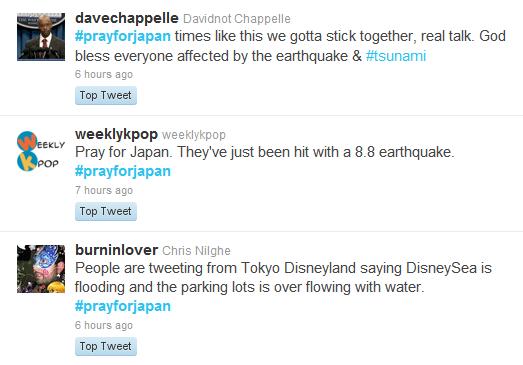 twitter japan earthquake