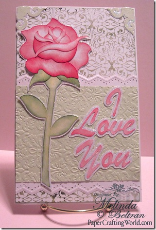 cricut rose card by melin beltran