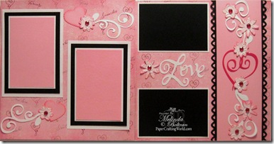 cricut cuttlebug embossed love layout by melinb