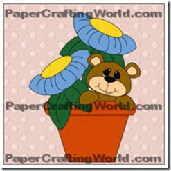 bear in flower pot papered200wjl