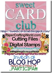 sweet card club blog hop logo