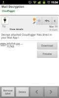 Screenshot of Cloudfogger Cloud-Encryption