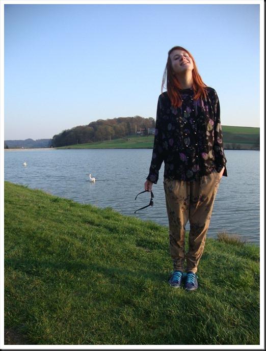 Vintage blouse; H&M bag; Zara harem pants; Graceland shoes (4)