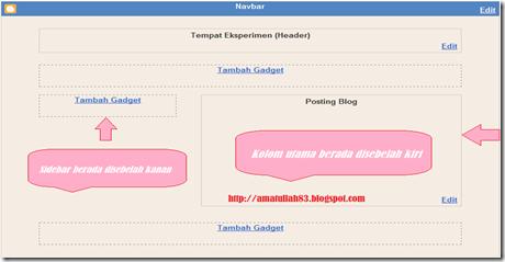 Merubah Posisi Sidebar Dan Main Pada Template Blogger