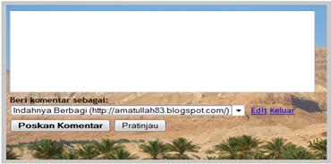 modifikasi formulir komentar blogger