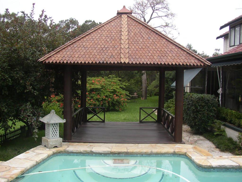 Wooden Gazebo on Bali House Plans Designs