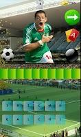 Screenshot of Quiz Futbolistas Brasil 2014