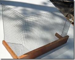 Litter box barrier.