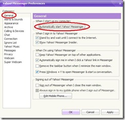 yahoo messenger settings