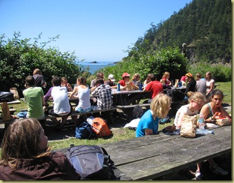 Lunch near Anacortes, WA