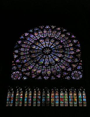 Interior - Nortre Dame Cathedral in Paris