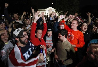 Celebration Outside the White House
