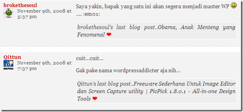 CommentLuv wordpress