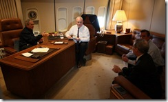 Aboard Air Force One en route to Bahrain
