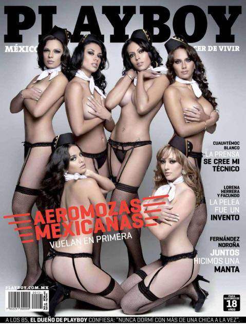 Aeromozas Mexicanas Playboy Mexico Abril 2011