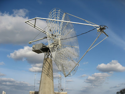 The 7m dish at OZ7SAT - AMSAT OZ headquarters