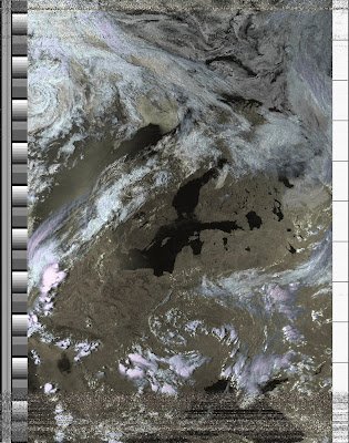 NOAA-15 APT image - HVC false Color
