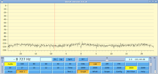 Quisk SDR reading input fro the sound card