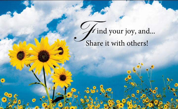 Fwd: Finding The Joy............