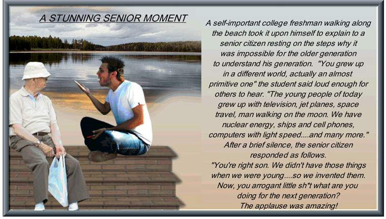 A Stunning Senior Moment