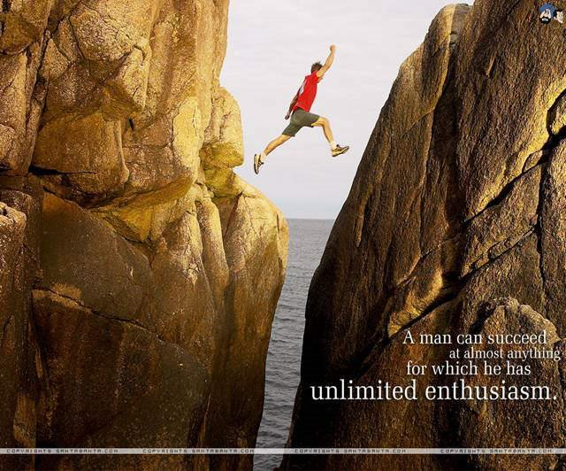 A man can succeed at almost anything for which he has unlimited enthusiasm...Nice Quotes