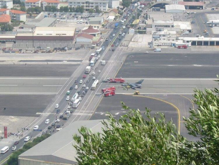 Gibraltar's airport: the closest airport to the city that it serves, being only 500 meters from Gibraltar's city center