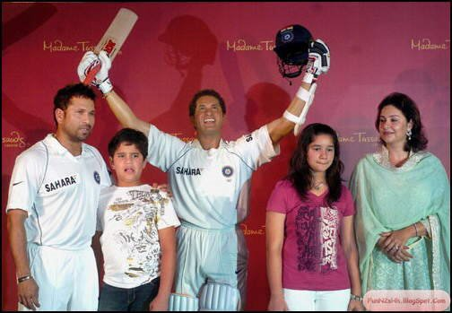 Sachin's Wax Statue at Madame Tussauds, London