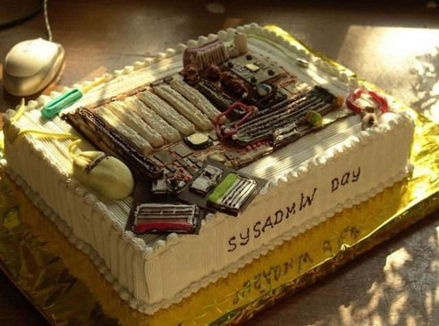 System Admin Cake.... HA HA HA - Enjoy SysAdmin Day!!!