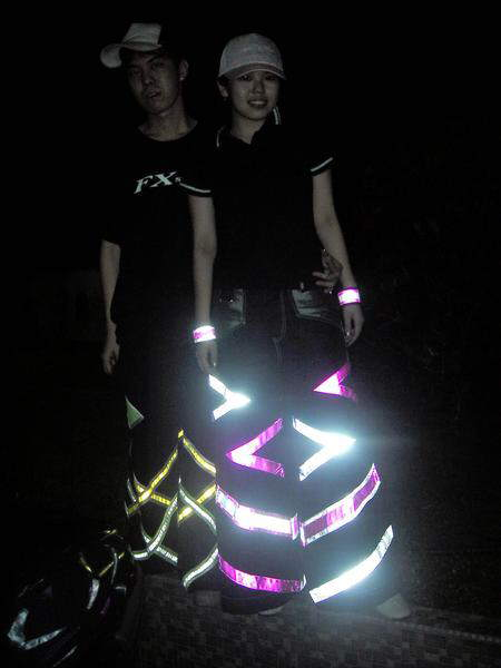New fashion... Lit up pants with crazy designs
