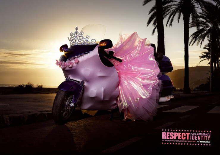 Funny 'Bike Dress-Up' Ad from Honda: Respect Your Motorbike's Identity