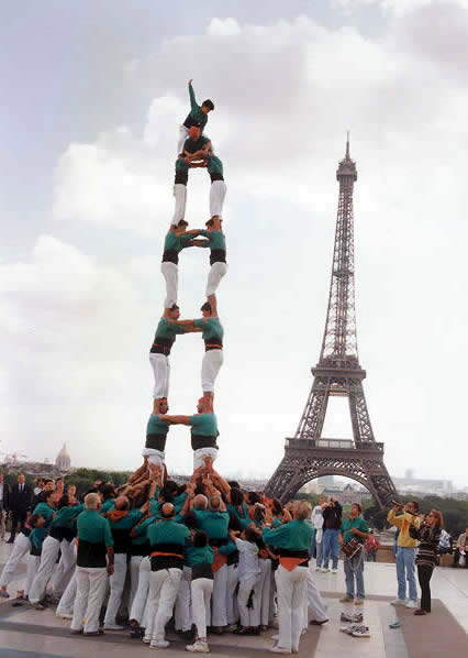 Highest Human Tower Competition Catalonia, Spain