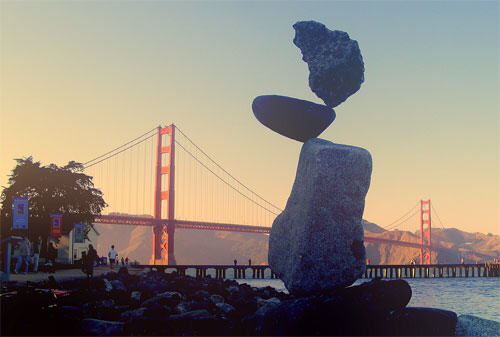 Rock Balancing: Who has the time and patience to setup these rocks?
