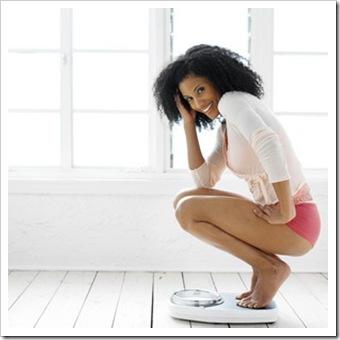 weighing woman