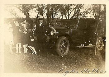 Car and people 1926-27 Buick