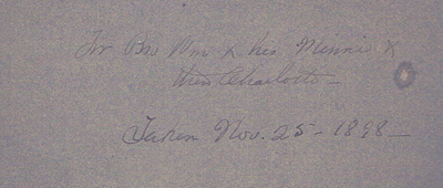 backing to Taken Nov. 25 1898